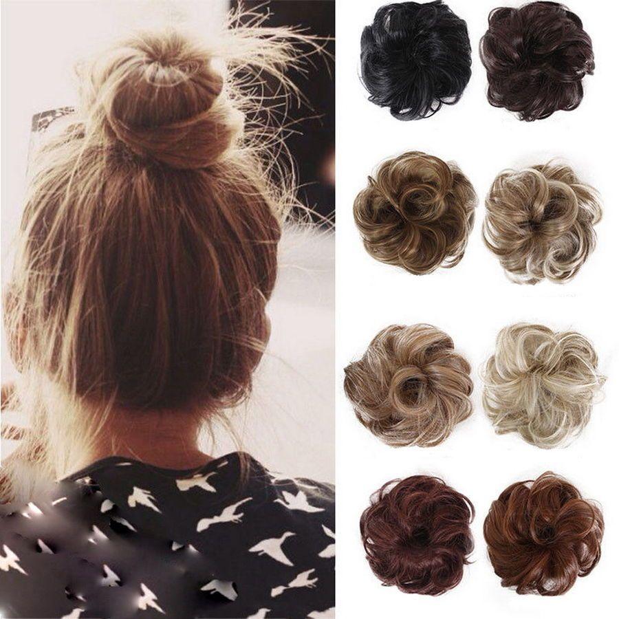 Messy Bun Hair Extensions Hair Piece Bun Pony Scrunchie Wavy Curly Wrap Long Uk Extensions Piece Pony Bun Hair Piece Fake Hair Buns Hair Donut