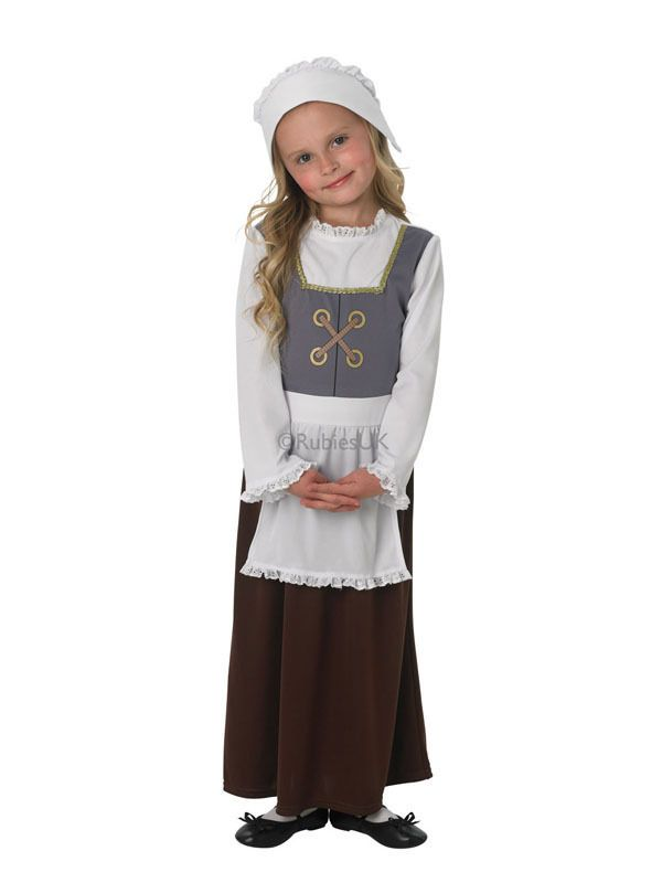 Child Tudor Girl Outfit Fancy Dress Costume Book Week ...