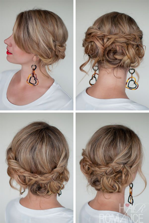 Casual Messy Braided Updo The Best Braided Updos For Parties Hairstyles Weekly Hair Romance Hair Styles Long Hair Styles