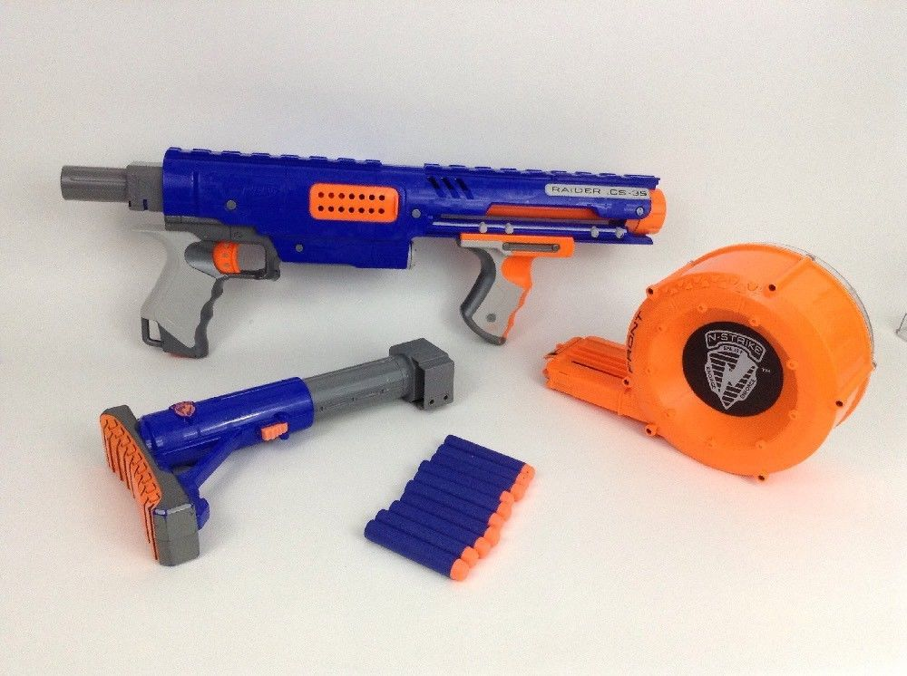 nerf magazine | Nerf N-Strike Elite Rampage - Drum Magazine Comparison  (Front)