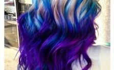Blue Ombre Mermaid Transformation Hair Colors Ideas Purple Hair Highlights Purple Ombre Hair Brown Ombre Hair Color
