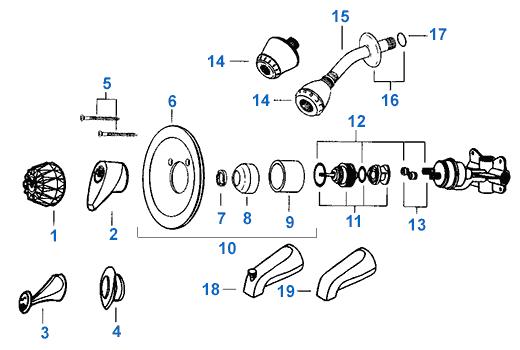 Shower Faucet Repair Parts
