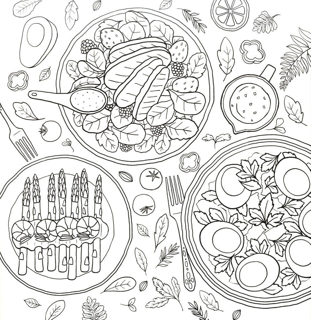 Coloring And The Food Hey Eonni Coloring Books Mandala Coloring Pages Coloring Pages