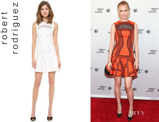 Heather Graham S Robert Rodriguez Kuba Embroidered Dress