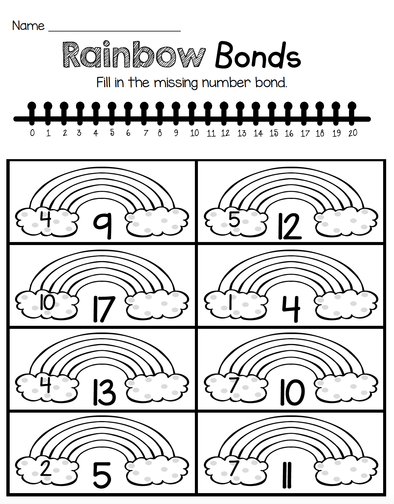 Kindergarten St Patrick S Day Activities March Math And Reading Worksheets Number Bonds Worksheets Number Bonds Kindergarten Number Bond [ 1666 x 1304 Pixel ]
