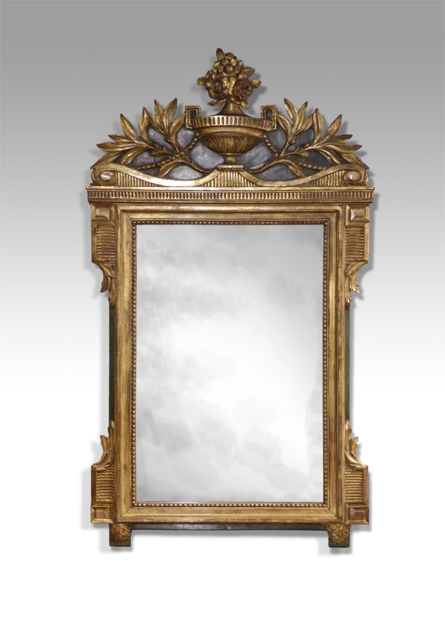 Mirror And Painted Bedside Table: Antique Gilt Mirror In 2020