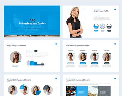 次の @Behance プロジェクトを見る  「Business PowerPoint - product review template