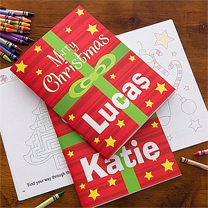 Merry Christmas Personalized Coloring Book Crayon Set Personalized Coloring Book Christmas Coloring Books Crayon Set