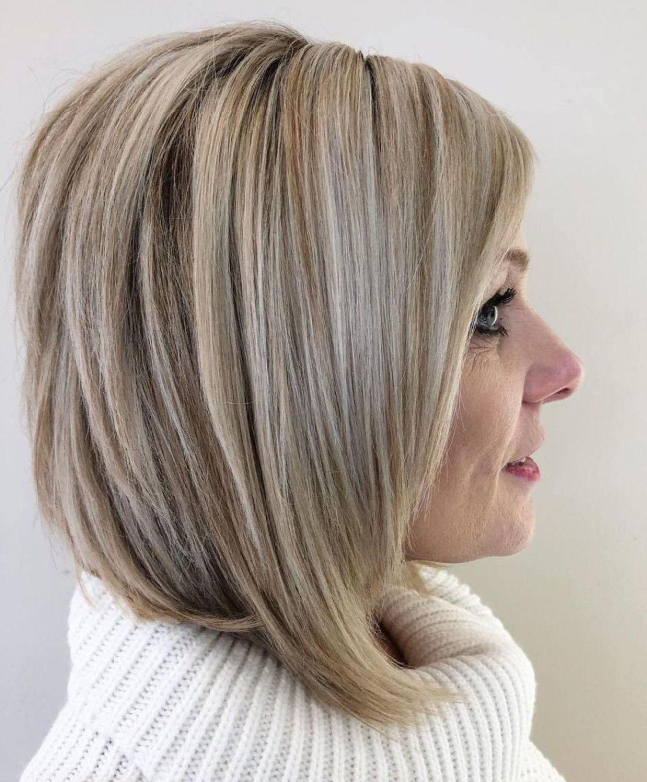Over Angled Balayage Bob  Hair styles, Modern hairstyles, Medium