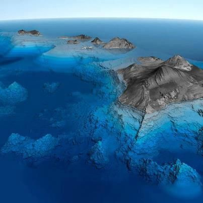 What a spectacular view of the Hawaiian Islands!