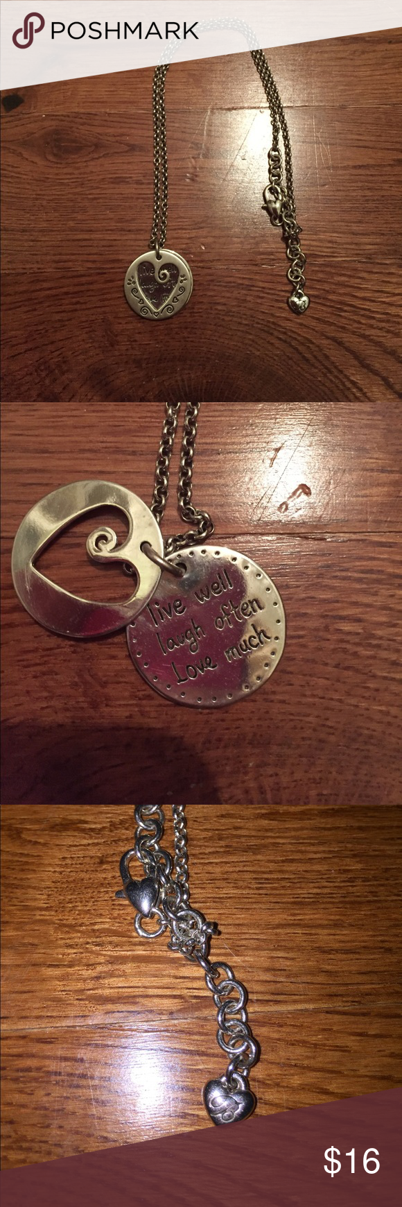 Brighton necklace Brighten necklace (engraved: live well ...