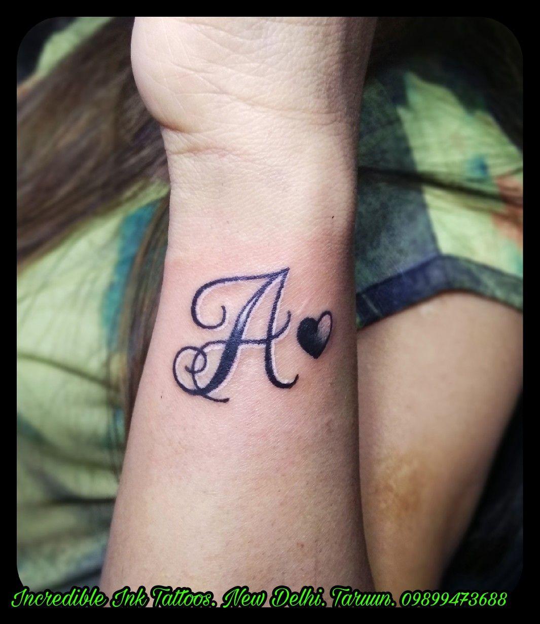 A Letter Initial Tattoo A Letter Initial Tattoo Call 09899473688 Alphabet Tattoo Designs Tattoos Pretty Hand Tattoos