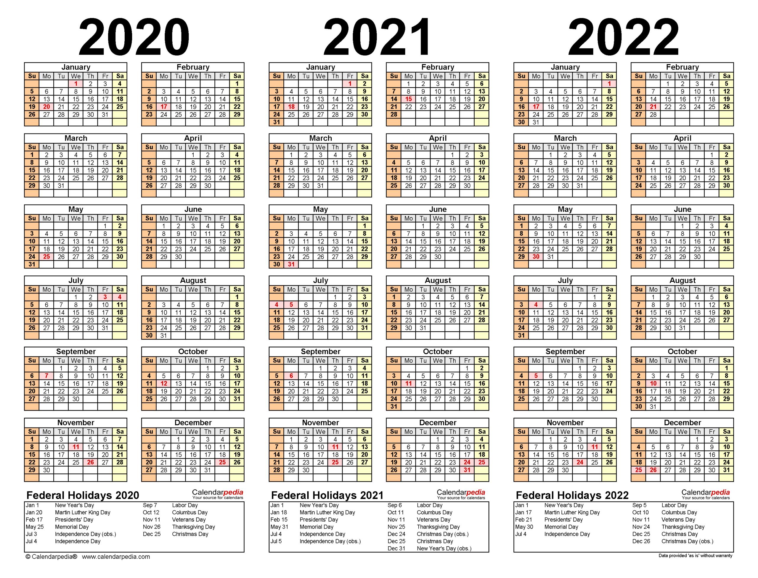 Uri Calendar 2022.2020 2022 Three Year Calendar Free Printable Excel Templates Pertaining To 2021 2022 Thr In 2021 Calendar Printables Yearly Calendar Template Free Printable Calendar