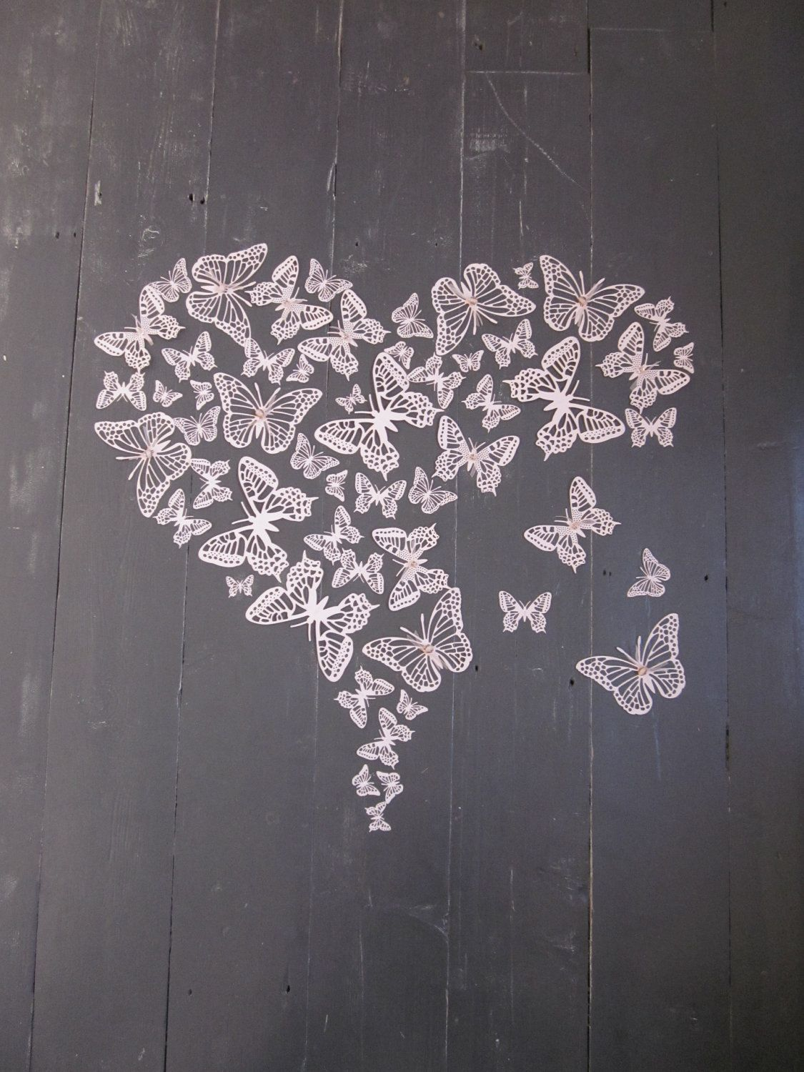 3d Paper Butterfly Wall Art In Soft Pink A Big Set Of 55 Pieces Butterfly Wall Art Butterfly Art Butterfly Wall