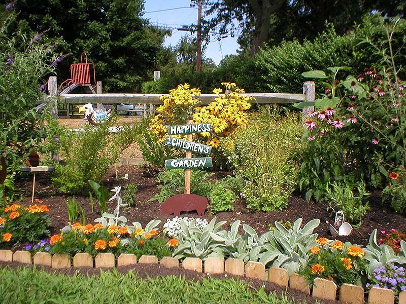 Beautiful childrens garden Backyard play area ideas