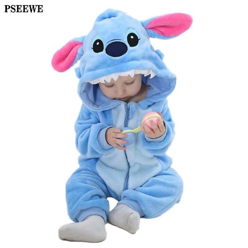Mamelucos del bebé de invierno mono de peluche panda animal cremallera mother nest muchacha del bebé recién nacido ropa bebe ropa de los mamelucos del cuerpo