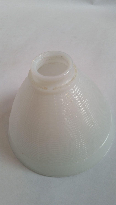 Vintage Milk Glass Lampshade 1950's White Glass Light