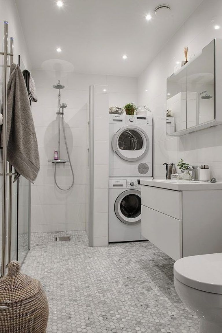 10 Tips To Create Stunning Bathroom Designs In Small Spaces Arch2o Com In 2021 Laundry Bathroom Combo Laundry Room Bathroom Small Bathroom