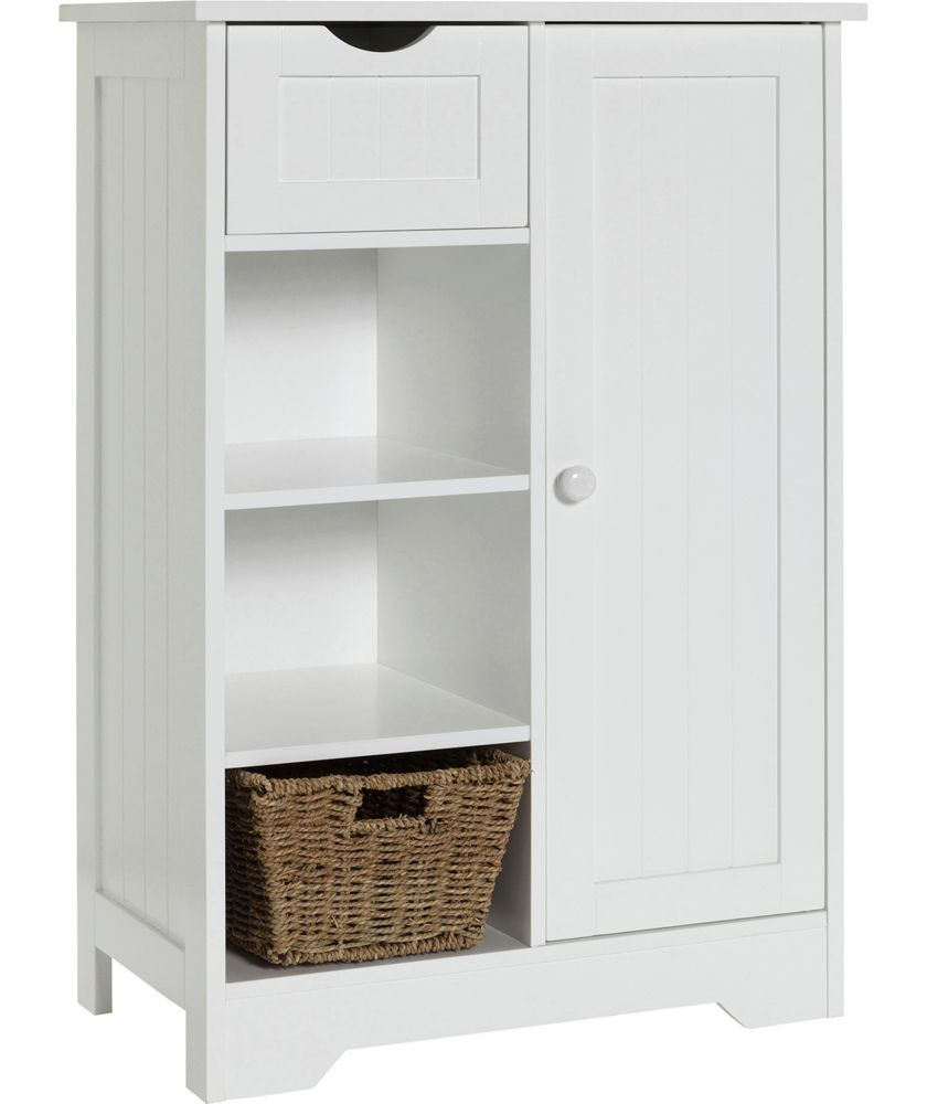 Buy HOME Shaker Slimline Hall Storage Unit with Cupboard  White at