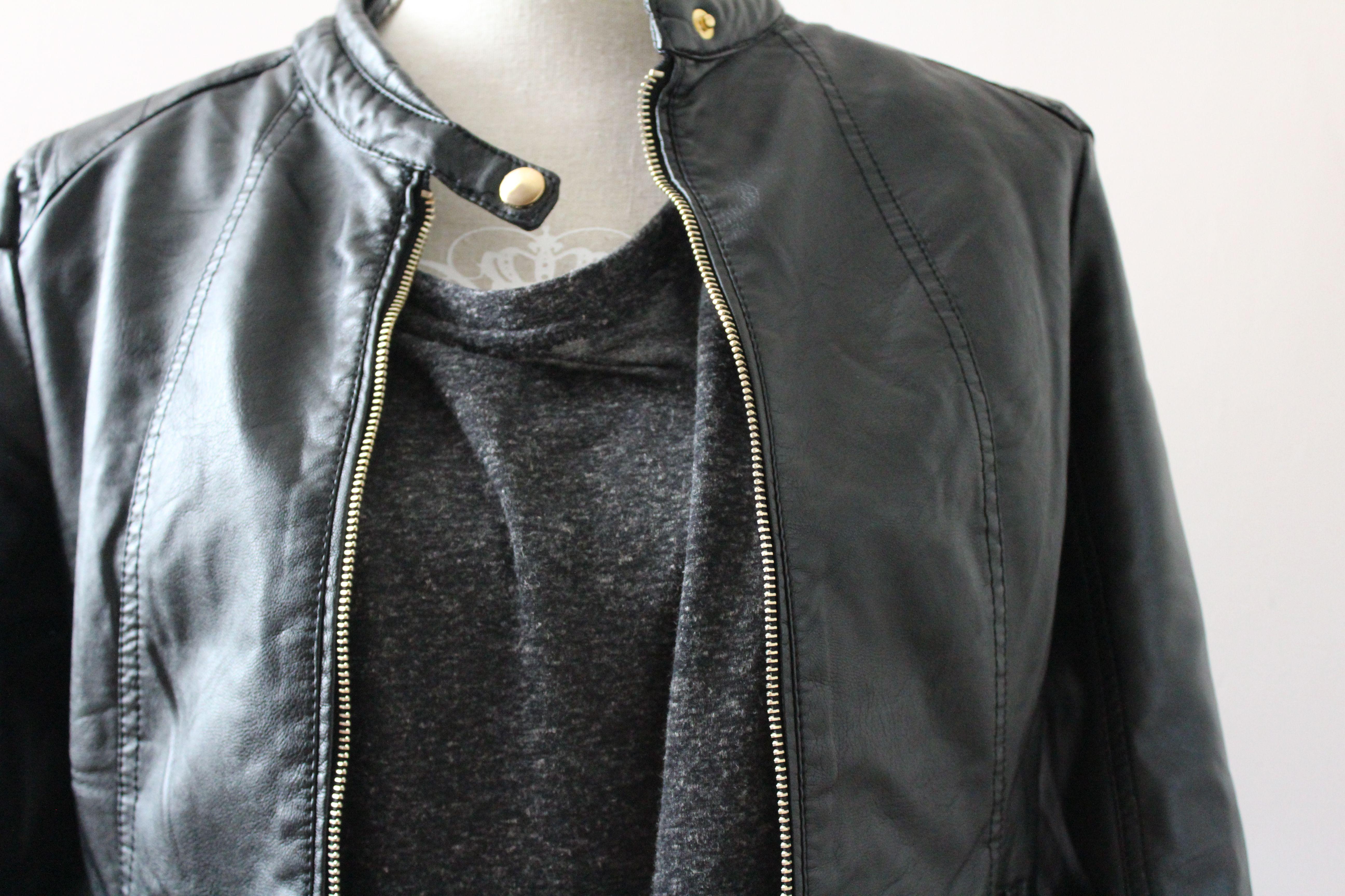 my new black leather jacket!