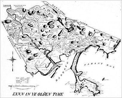 Map of Lynn by Alonzo Lewis 1829 Lynn a Visual History