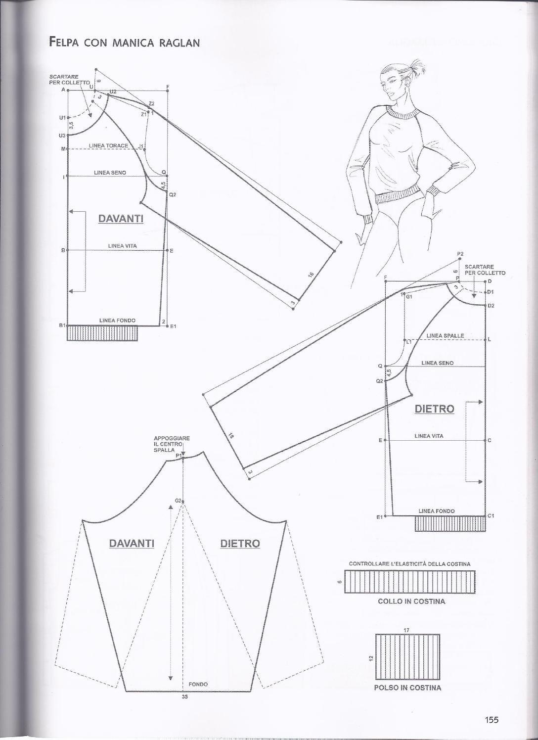 raglan 2 | libros costura | Pinterest | Patrones, Costura y Molde
