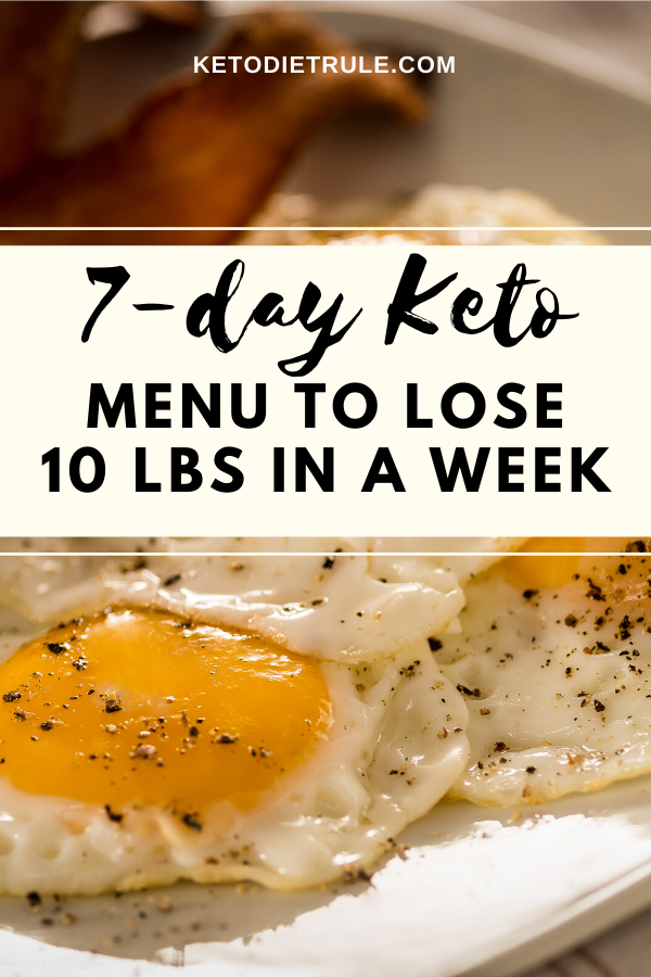 7-Day Keto Diet Plan and Menu to Lose 10 LBS In a Week