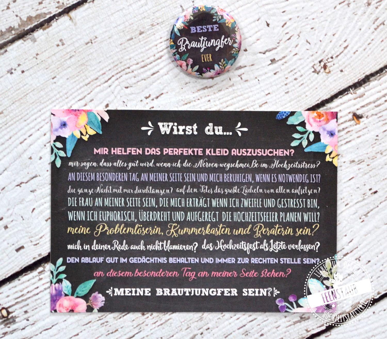 Brautjungfer fragen für die Hochzeit | Pinterest | Brautjungfern ...