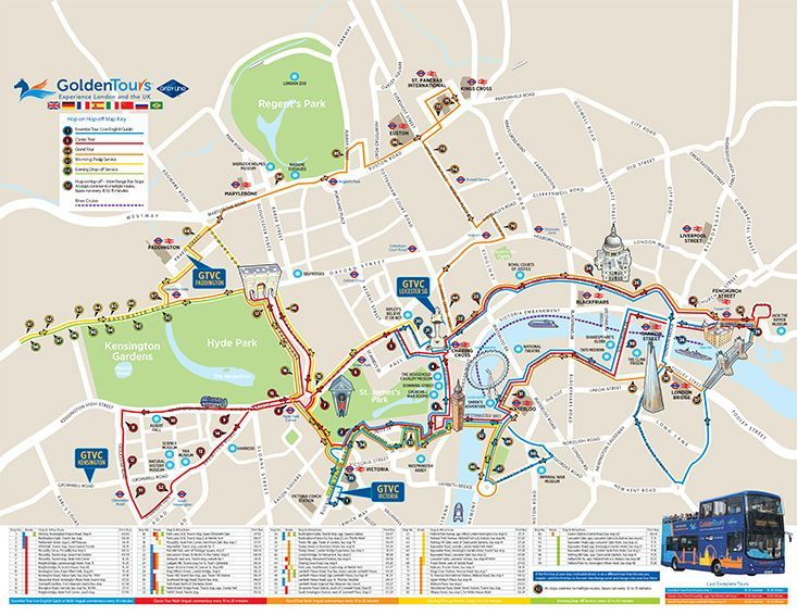 hop on hop off plus london sightseeing route map