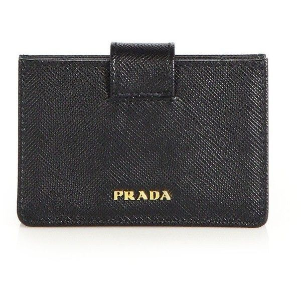 8cb7c402a714 Prada Saffiano Leather Accordion Card Case ($270) ❤ liked on Polyvore  featuring bags,