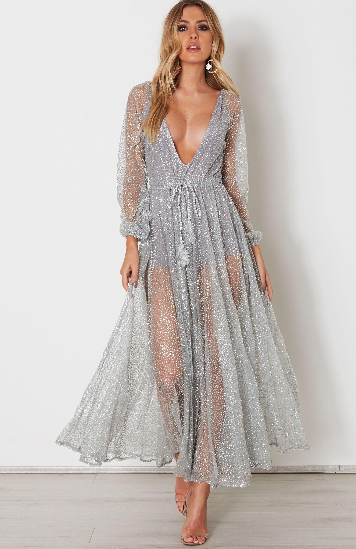 Lucky Star Glitter Gown Silver | homecoming | Pinterest | Lucky star ...