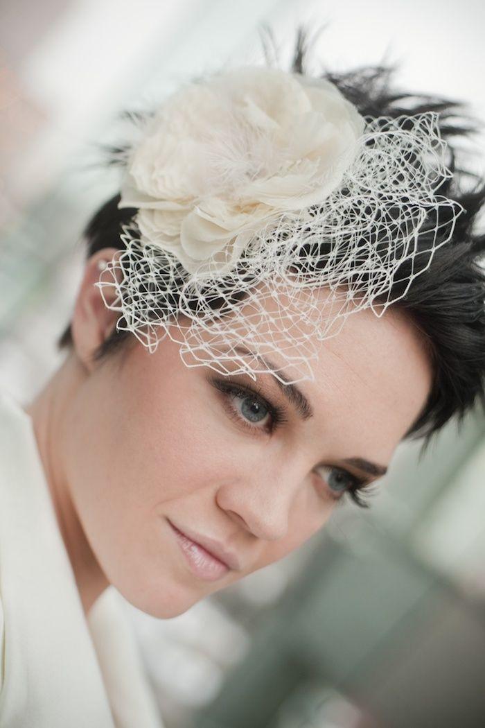 1001 + Idées pour une coiffure mariage cheveux courts + les coiffures des invitées | Coiffure ...