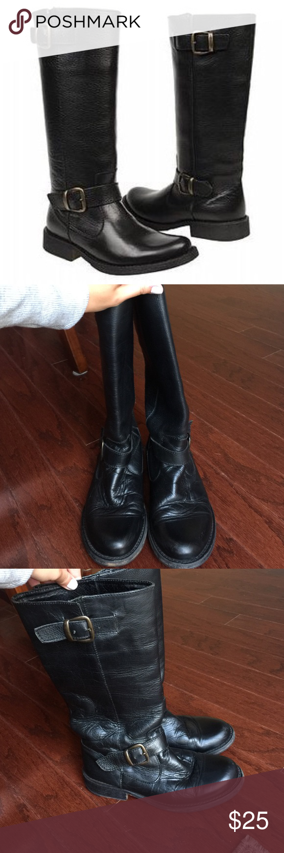 Steve Madden boots FRENCCHH FRENCCHH Steve Madden boots in black size 7! Great condition Steve Madden Shoes