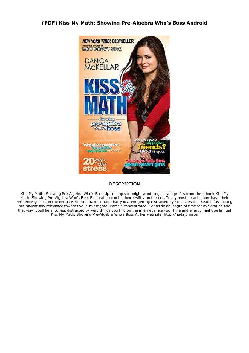 pre algebra book free download