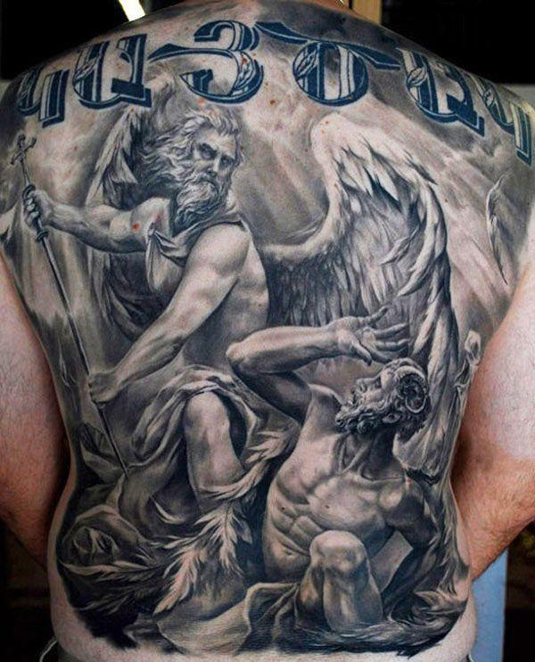 Voici 15 Photos De Tatouage Homme Ange Pour Vous Donner Des Idees De