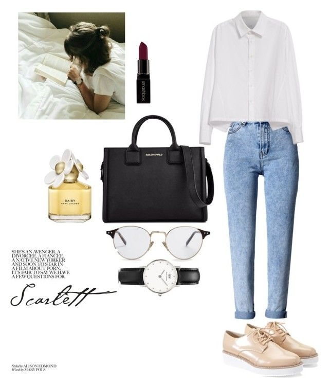 """chic"" by vmaldonado076 on Polyvore featuring Forever 21, WithChic, Y's by Yohji Yamamoto, Karl Lagerfeld, CÉLINE, Daniel Wellington, Marc Jacobs and Smashbox"