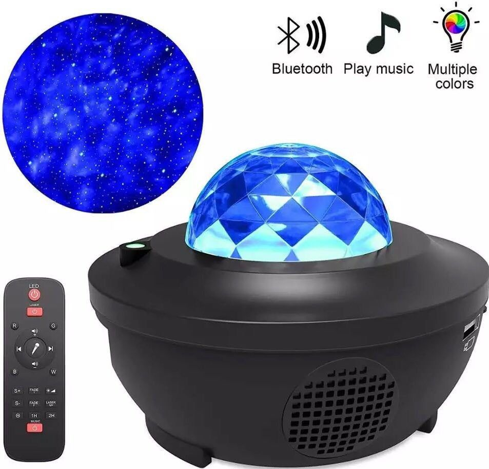 Colorful Starry Sky Projector Blueteeth Usb Voice Control Music Player Led Night Light Projection Lamp Birthday Gift In 2020 Star Projector Light Galaxy Lights Star Projector