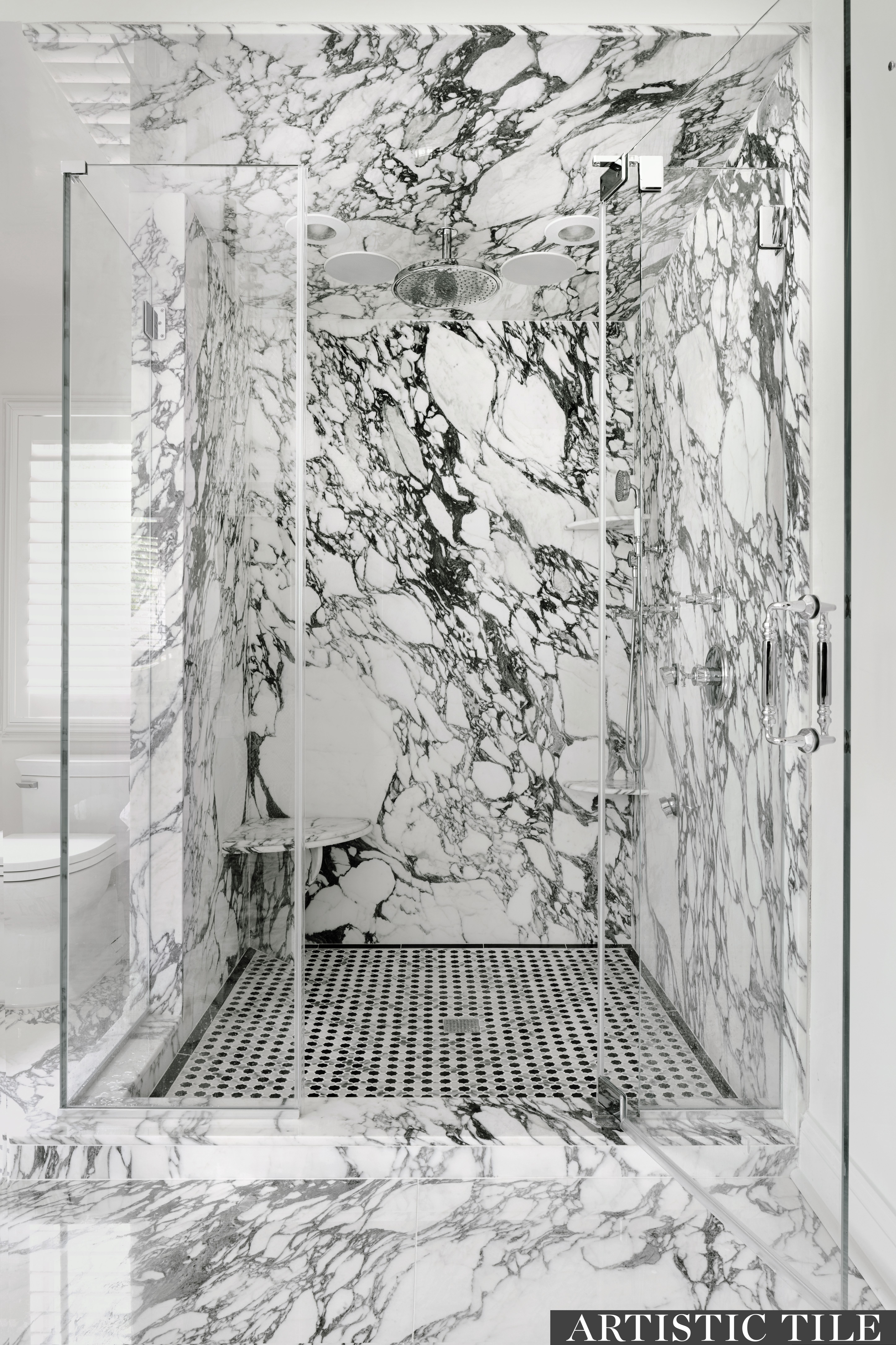 Arabescato Corchia Marble By Artistic Tile Bathroom Design Decor Arabescato Marble Marble Bathroom