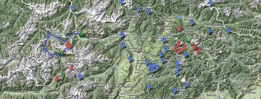 Map of alps and climbs Places to Visit Pinterest Alps and Cycling