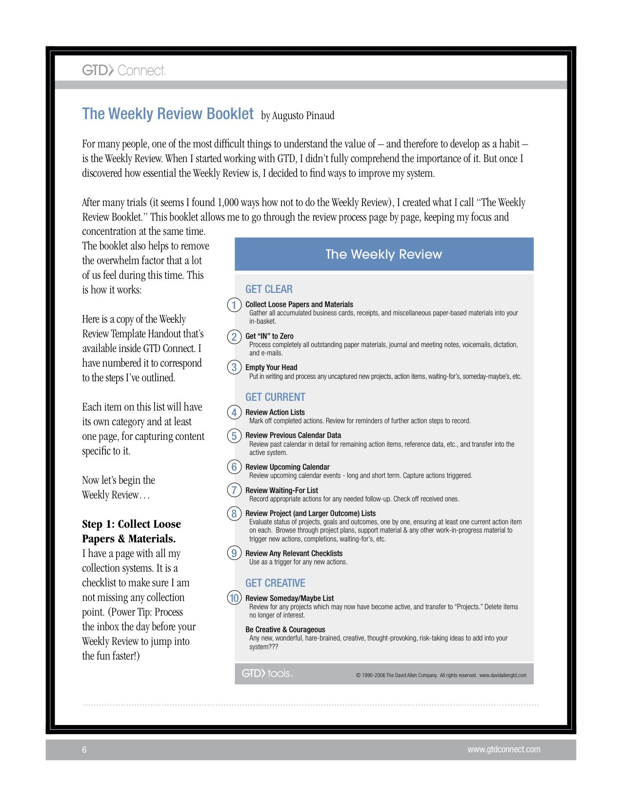 Weekly Review Outline Links To Good Blog Post By Outline Author