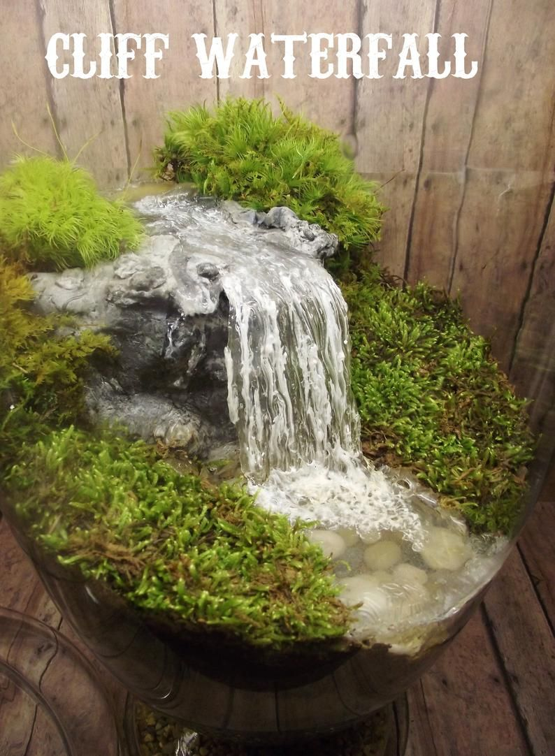 Add A Miniature Waterfall Pond Or River To Your Fairy Garden Etsy Garden Terrarium Waterfalls Backyard Garden Waterfall