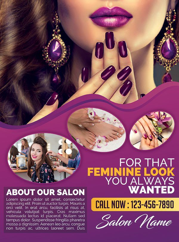 Beauty And Hair Salon  Premium Psd Flyer Template  GetemplateCom