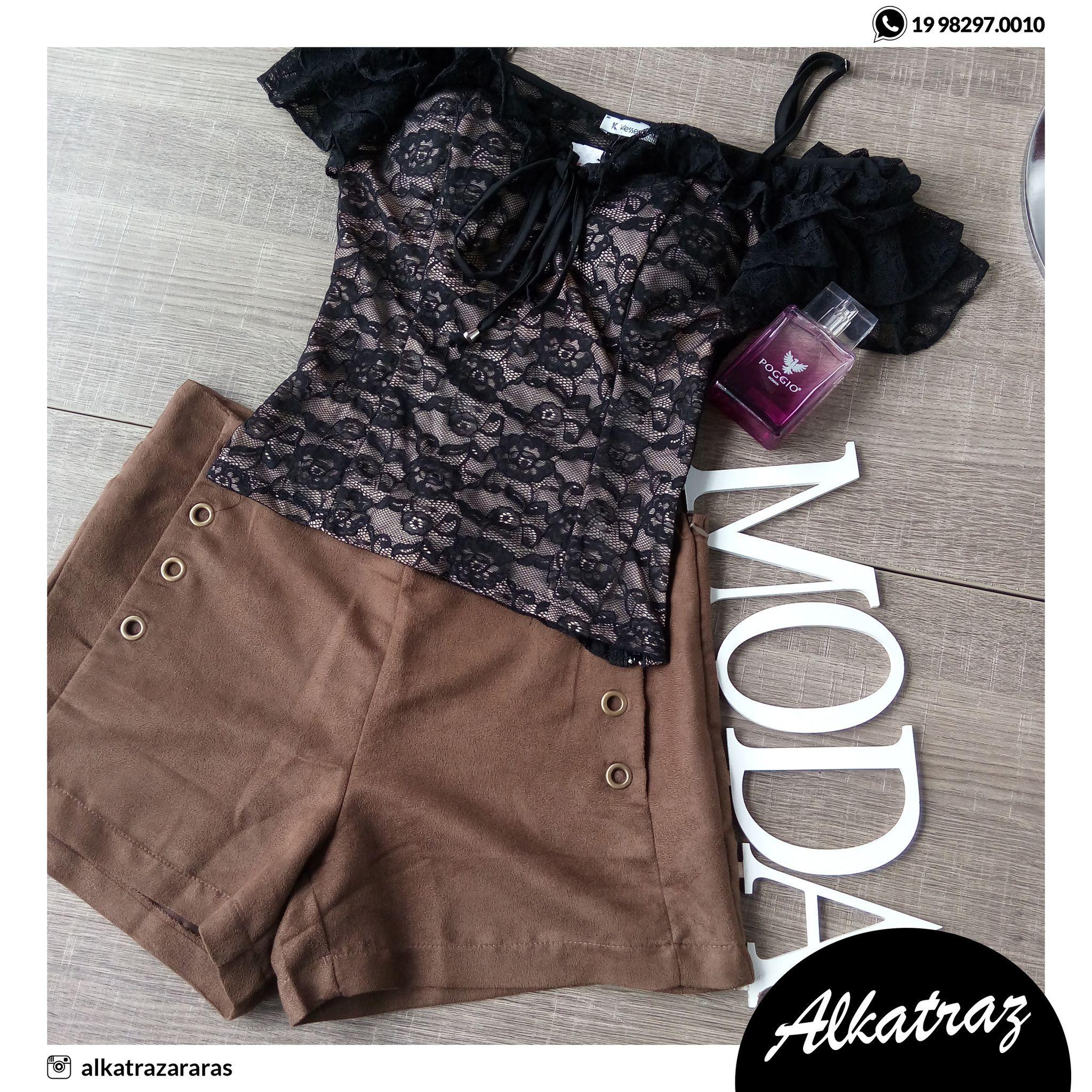Renda e suede 😍😍 Combinação perfeita que amamos! 💋#alkatraz #moda #woman #mulheres #elegância #preçosbaixos