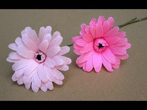 2 how to make paper flowers easy gerbera daisy flowers diy 2 how to make paper flowers easy gerbera daisy flowers diy tutorial youtube mightylinksfo