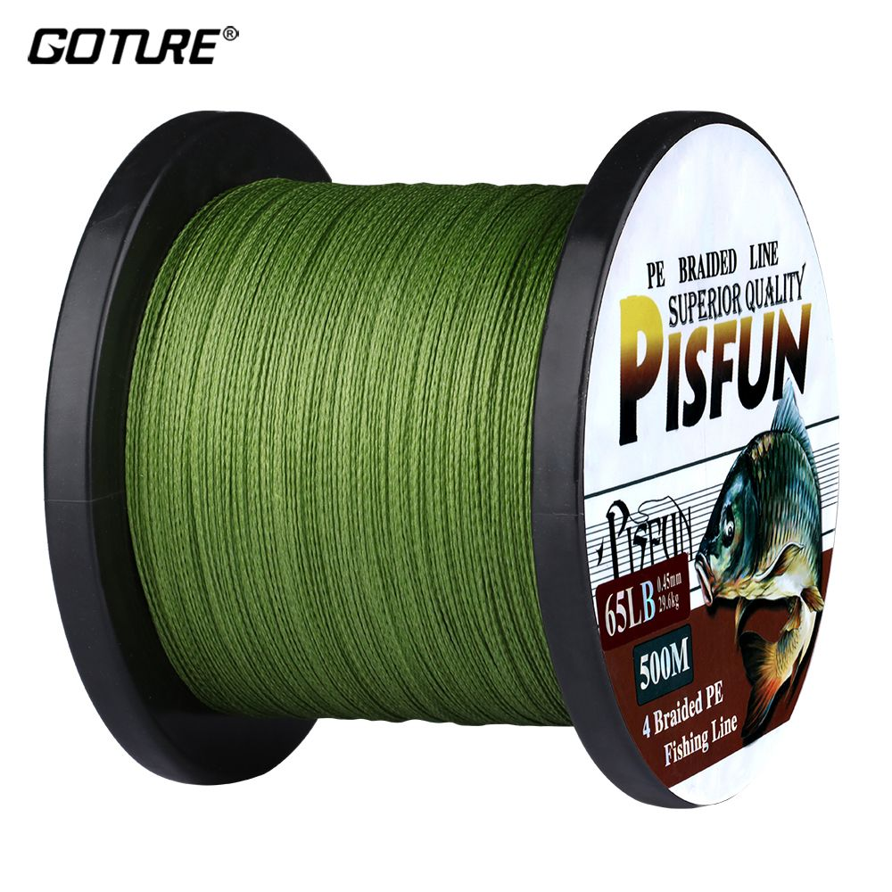 Goture 500m 547yds Pe Braided Fishing Line Multifilament Super