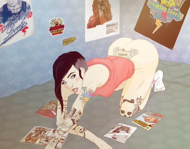 comic fan girl  by daniel caballero a.k.a FREAKING LOVELY