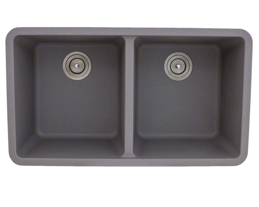 Undermount granite composite sink in silver...for new kitchen.