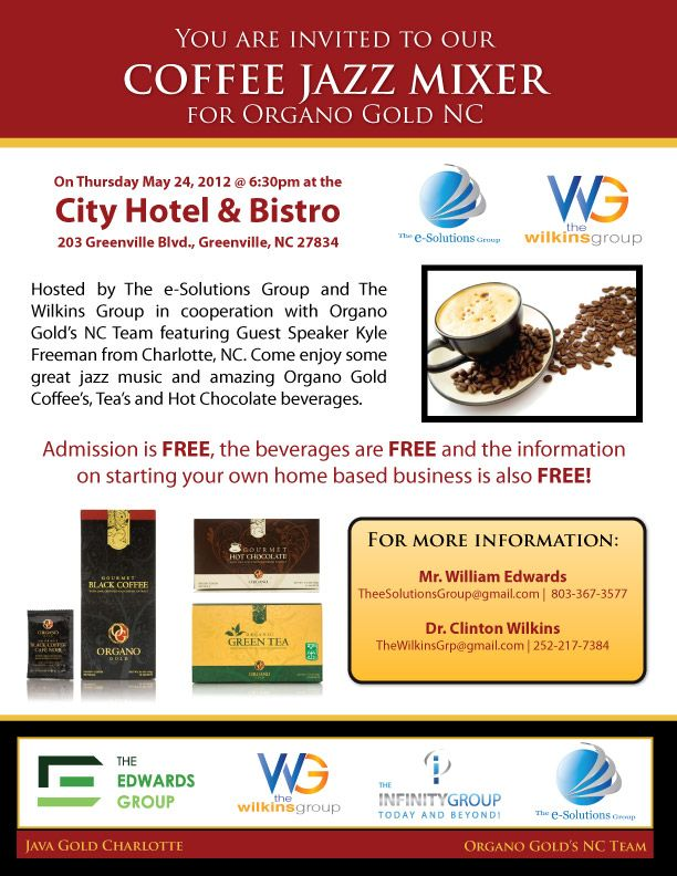 Host your own Coffee Jazz Mixer \