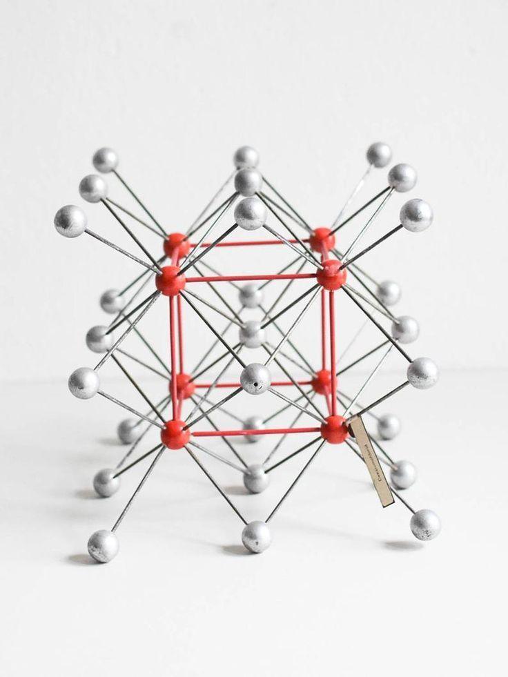 Organic chemistry model, molecular model, molecular models, geometric sculpture, vintage molecular