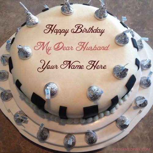 Write Name On Birthday Cake For Dear Husband Wishes Kkk